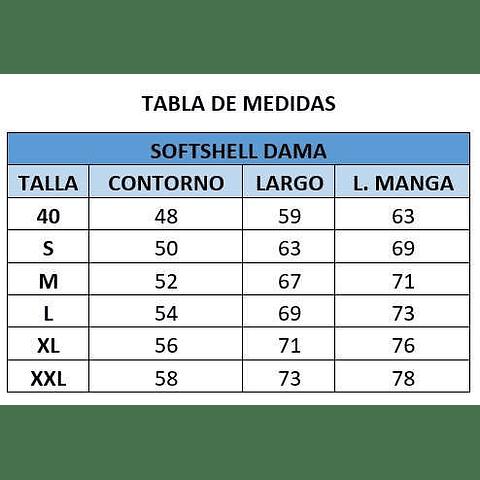 SOFTSHELL DE DAMA CC. SAN PEDRO
