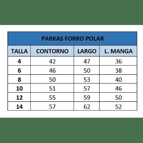 PARKA FORRADA EN POLAR CC. SAN PEDRO