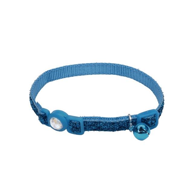 Collar Brillante Safe Cat Azul