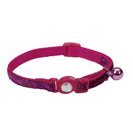 Collar Brillante Safe Cat Fucsia