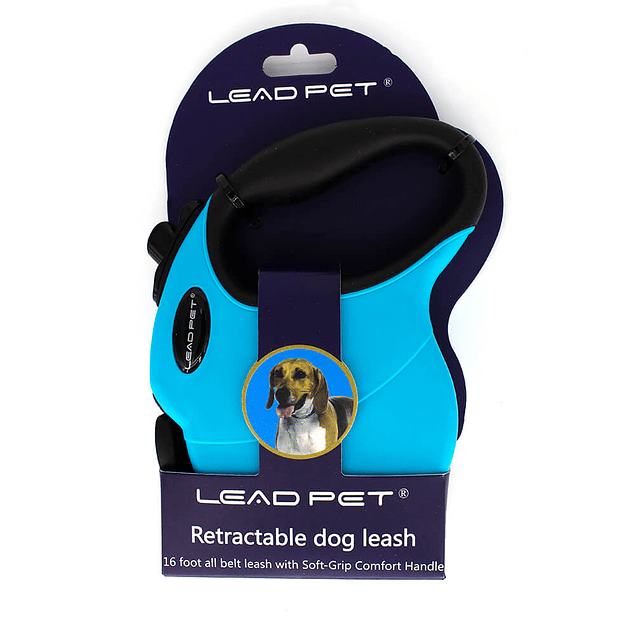 Trailla retractil Lead Pet azul
