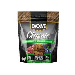 Evolve dog snack wafer cordero 12 oz