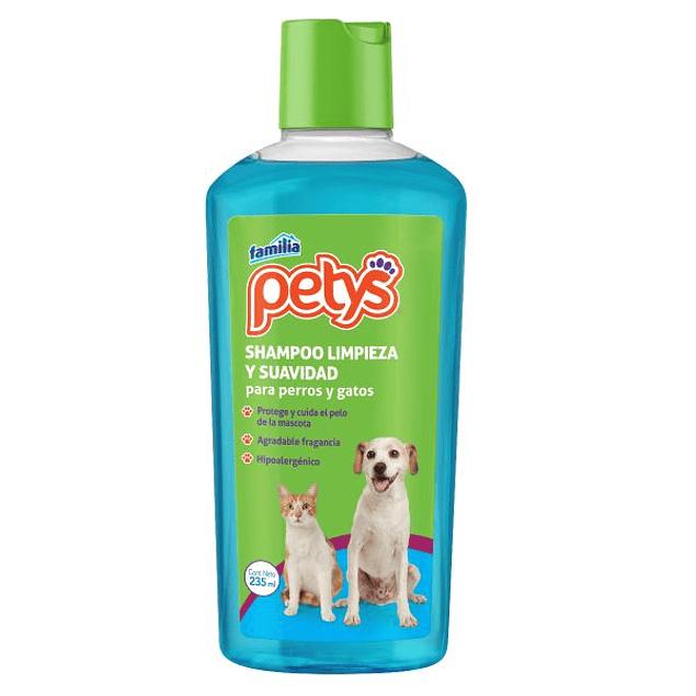 Shampoo Petys limpieza y suavidad 235 ml