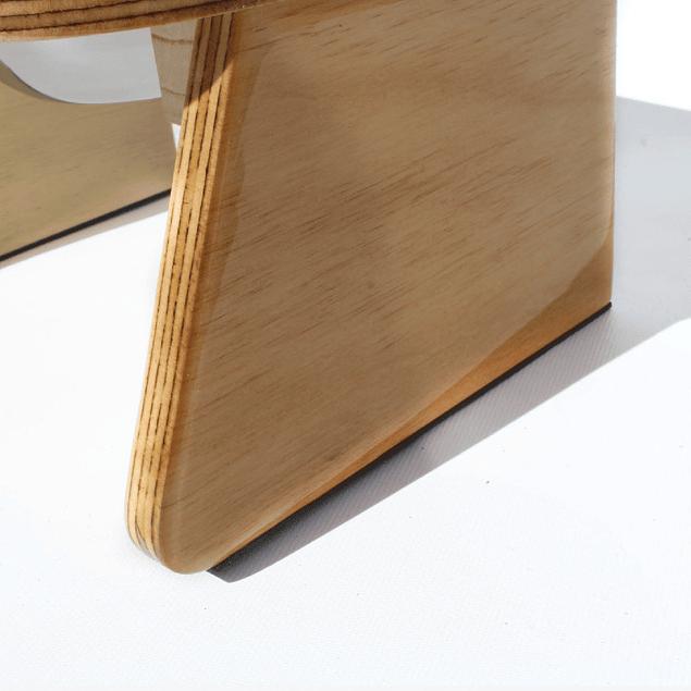 Comedero Wood elevado mediano