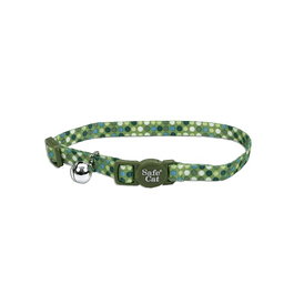 Collar Fashion Safe Cat Puntos Verdes
