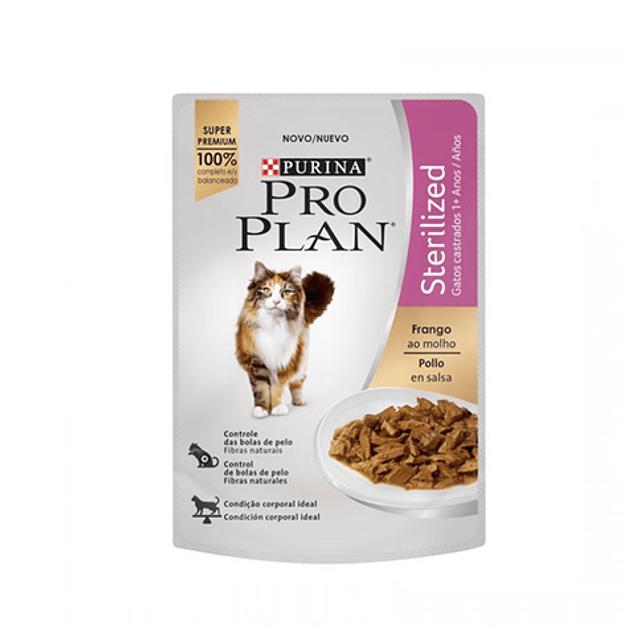 Pro Plan gato esterlizado pollo alimento humedo