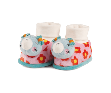 Cat | Slippers with Rattle