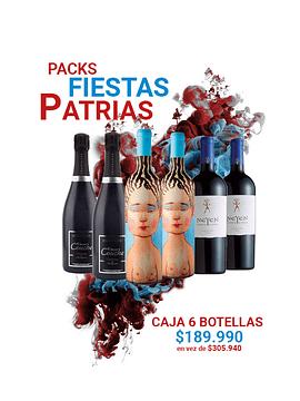 Caja de 6 botellas de vinos premium