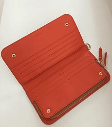Billetera de cuero bicolor