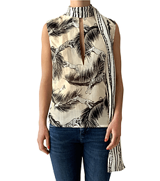 Blusa algodón tigres Cavalli