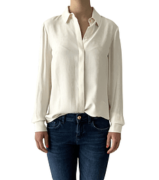 Camisa blanco crema Cavalli