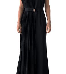 Vestido largo negro Cavalli