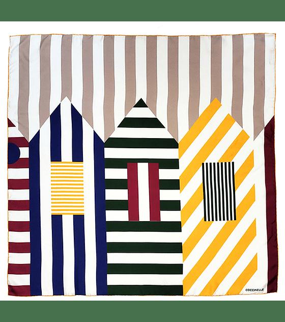 Pañuelo seda diseño casitas