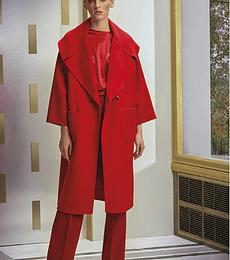 Abrigo Rojo Paño