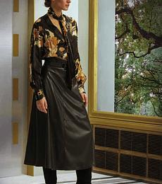 Blusa seda con flores orientales