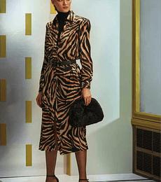 Vestido camisero animal