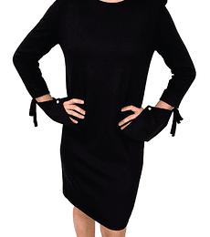 Vestido corto de Jersey de Lana Negro