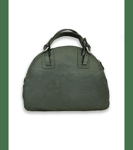 Cartera tipo bolso verde oscuro