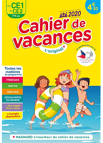 Cahier de vacances du CE1 au CE2 - 7/8 ans