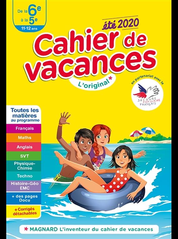 Cahier de vacances de la 6e à la 5e - 11/12 ans