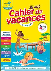 Cahier de vacances de la 4e à la 3e - 13/14 ans