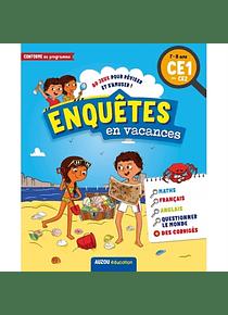Enquêtes en vacances : 80 jeux pour réviser et s'amuser ! du CE1 au CE2 - 7/8 ans