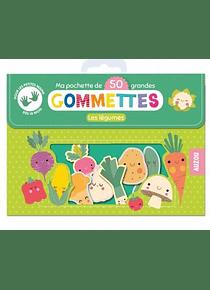 Les légumes - Ma pochette de 50 grandes gommettes