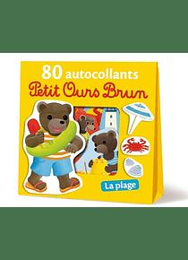 Petit Ours Brun - 80 autocollants - La plage
