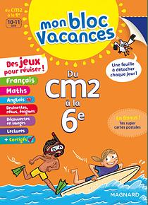 Bloc vacances du CM2 à la 6e - 10/11 ans