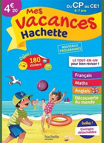 Cahier de vacances du CP au CE1 - 6/7 ans