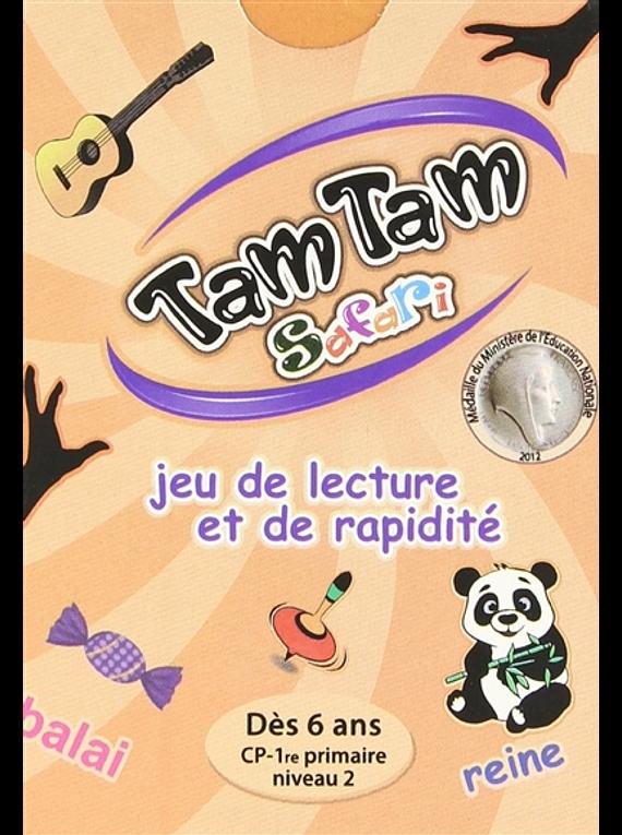 Tam Tam Safari : jeu de lecture et de rapidité CP niveau 2