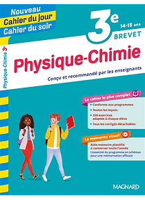 Cahier du jour Cahier du soir - 3e - 14/15 ans : Physique chimie