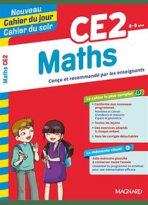 Cahier du jour Cahier du soir - CE2 - 8/9 ans : Maths