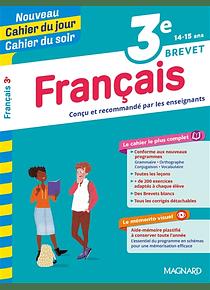 Cahier du jour Cahier du soir - 3e - 14/15 ans : Français