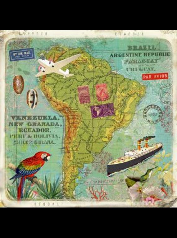Carte Tour du monde