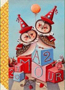 Carnet illustré Deux chouettes