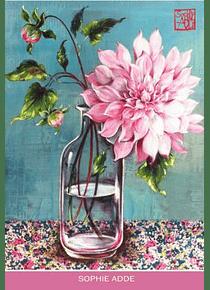 Pochette cartes fleurs