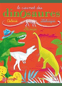Le carnet des dinosaures : colorie, fabrique, découpe, de Isabelle Simler
