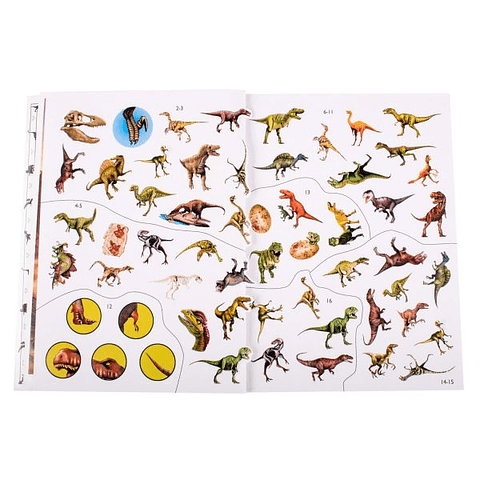 Dinosaurio libro con super stickers