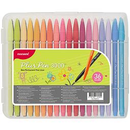 Marcador plus pens 36 colores