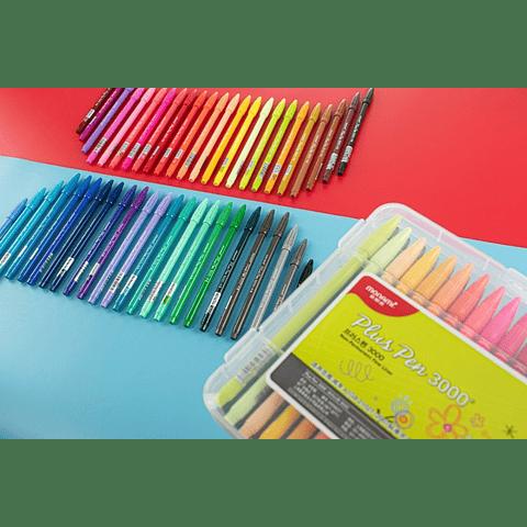 Marcador plus pens 3000 48 colores