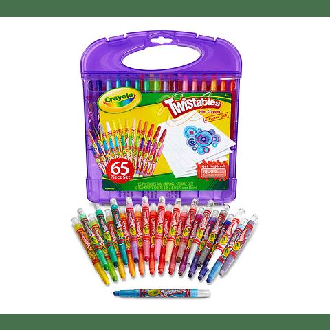 Set Crayola 65 unidades Twistable lila