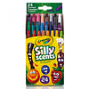 Crayones mini 24 colores sillyscents con olor