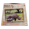 Puzzle Animales de Africa Rinoceronte