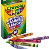 lápiz cera 16 colores crayola lavables