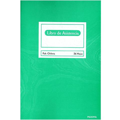 Libro de asistencia 26 hojas