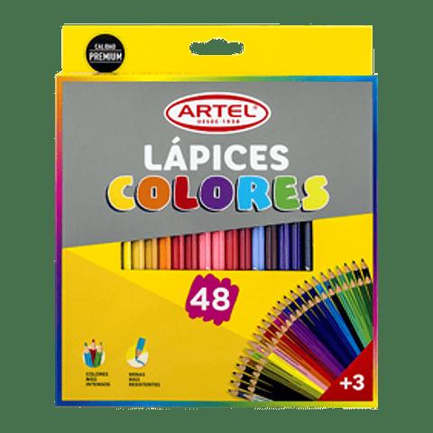 Lápices 48 colores artel