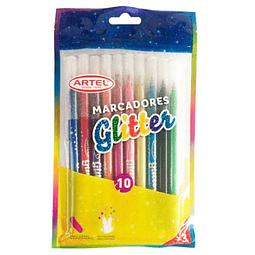 Marcador glitter 10 colores