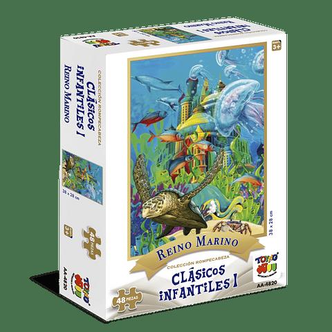 Puzzle 48 piezas Reino animal