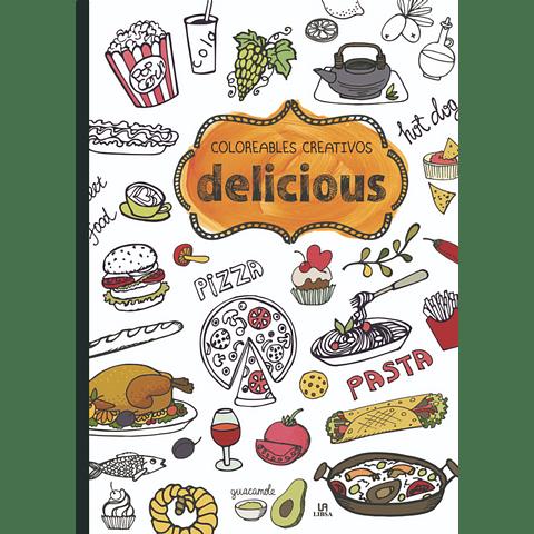 Libro para colorear grande Delicious